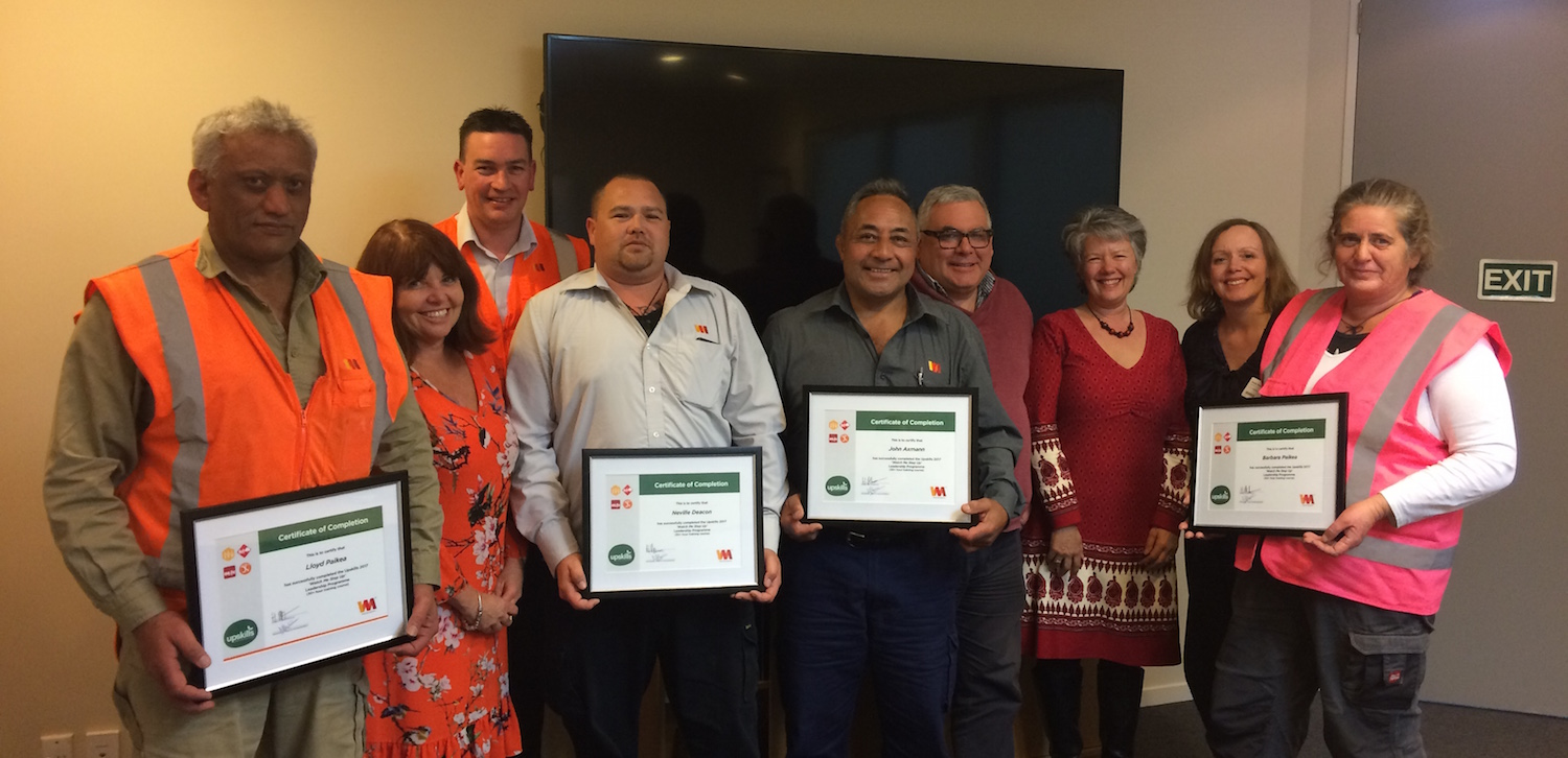 Workplace training at Waste Management - the Watch Me Step Up graduates