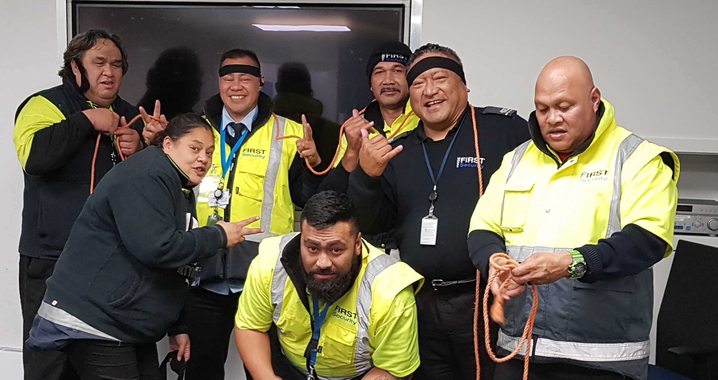 Gary and some of the Ports of Auckland First Security team