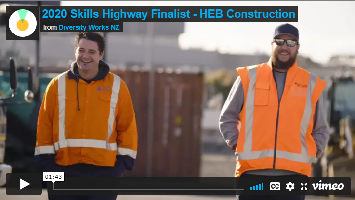 HEB Construction Skills Highway Finalist 2020
